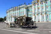 Converted coach near Hermitage Museum — Stock Photo