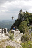 Cesta tower in the country of San Marino — Stock Photo