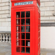 Stock Photo: Phone booth in London