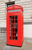 Phone booth in London — Stock Photo