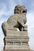 Chinese lion sculpture — Stock Photo