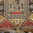 Fragment of Piccolomini Library ceiling in Siena Cathedral, Ital — Stock Photo