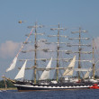 Stock Photo: RIGA, LATVI- JULY 28: RegattTall Ships Races 2013