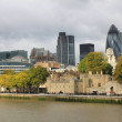 Tower of London and Modern London city office skyline by River Thames — Stock Photo #32052007