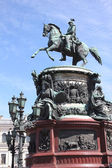 Monument to imperor Nicholas I in Saint Petersburg, Russia — Stock Photo