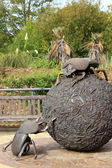 Giant Dung beetle sculpture in London Zoo — Stock Photo