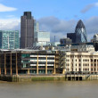Stock Photo: Modern London city office skyline by River Thames