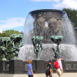 Gustav Vigeland sculptures in Frogner Park. Oslo, Norway — Stockfoto