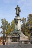 Adam Mickiewicz Monument in Warsaw, Poland — Stock Photo