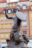 Sculpture of a siren (1855) on the Market square of the Old town — Stock Photo