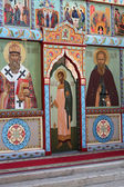 The iconostasis of the Orthodox Church — Stock Photo