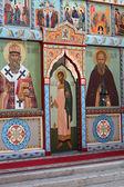 The iconostasis of the Orthodox Church — Stock Photo