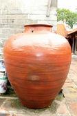 Big earthen jar — Stock Photo
