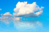 Blue sky with cloud closeup — Stock Photo