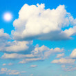 Blue sky with cloud closeup — Stockfoto