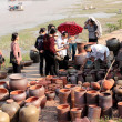 Stock Photo: Ceramics markets in Vietnam