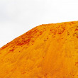 Sand dune on white background — Stock Photo