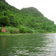 Stock Photo: Landscape with moutain and river, Trang An, Ninh Binh, Vietnam