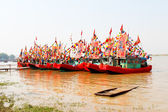 Performed traditional boat on the river — Stock Photo