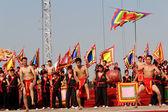 De martial arts beoefenaars prestaties traditionele martial een — Stockfoto