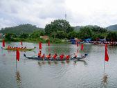 种族传统船 — 图库照片