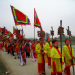 Group of people in traditional costume palanquin procession of h — Stock Photo