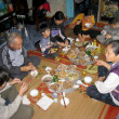 Stock Photo: Meal in new yaer of rural family