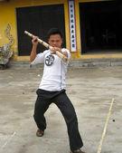 Practicante de artes marciales — Foto de Stock