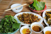 Fried cicadas, unique meal of vietnam — Stock Photo