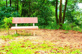 Stone bench in the garden — 图库照片