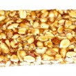 Peanut brittle isolated on white background — Stock Photo