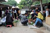 Asian peole in rural market — Stock Photo