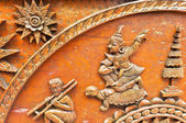 Old wooden carving in Thai style — Foto de Stock