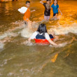 Thai flood hits Central of Thailand — Stock Photo
