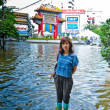 Worst flooding in Bangkok's Chinatown — Stock Photo #32938189