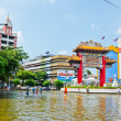 Worst flooding in Bangkok's Chinatown — Stock Photo #32939593