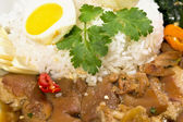 Pork Leg Stew over Rice (Kao Ka Moo) — Stock Photo