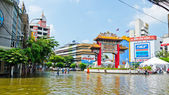 The worst flooding in Bangkok's Chinatown — Foto de Stock