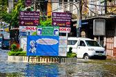 худшее наводнение в бангкоке chinatown — Стоковое фото