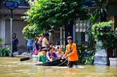 The worst flooding in Thailand — Stock Photo