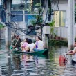 Jaransanitwong Road during worst flooding — Stock Photo #32952317