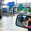 Worst flooding in Bangkok, Thailand — Stock Photo #32956489