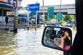 Nejhorší záplavy v bangkoku, thajsko — Stock fotografie