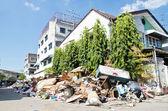 Thaise overstroming crisis in bangkok, thailand — Stockfoto