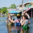 Worst flooding in Nakhon Pathom, Thailand — Stock Photo #32961209