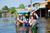 The worst flooding in Nakhon Pathom, Thailand — Stock Photo