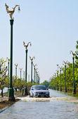 The worst flooding in Nakhon Pathom, Thailand — Stock Photo