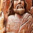 Stock Photo: Old wooden jesus sculpture