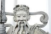Chinese god statue in Wat Pho Buddhist Temple , Bangkok, Thailan — Stock Photo