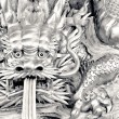 Chinese dragon carve — Stock Photo